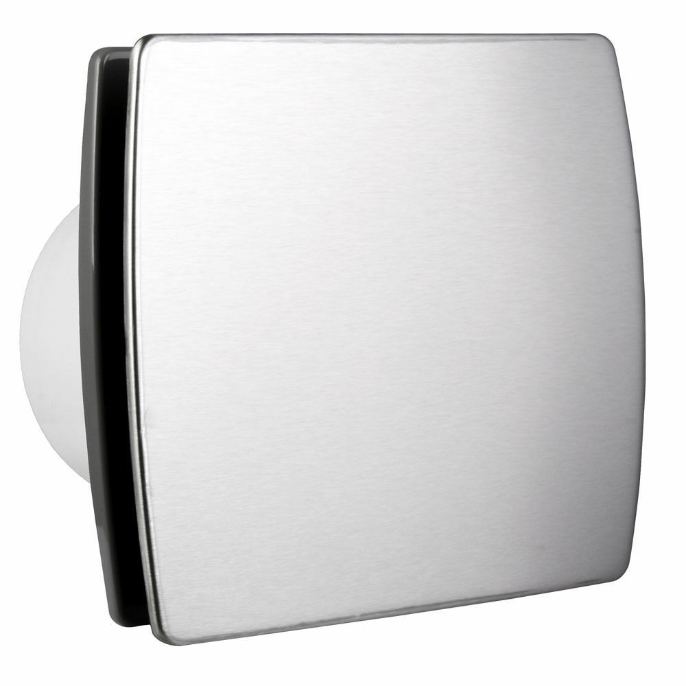 Ventilator Modern 100mm Bathroom Extractor Fan With Modern Stainless Steel Front Panel Ventilator Ebay