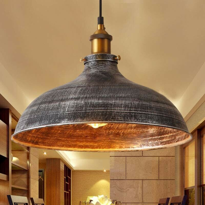 "Industrial Hanging Lights 14"" Vintage Industrial Pendant Light Ceiling Lamp"