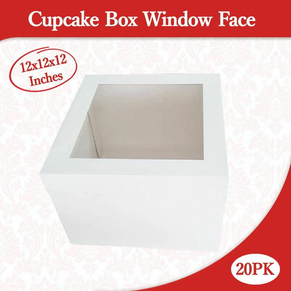 Cake Boxes Brisbane Cup Boxes Window Face 12x12x12 Inches High 20pk Wedding