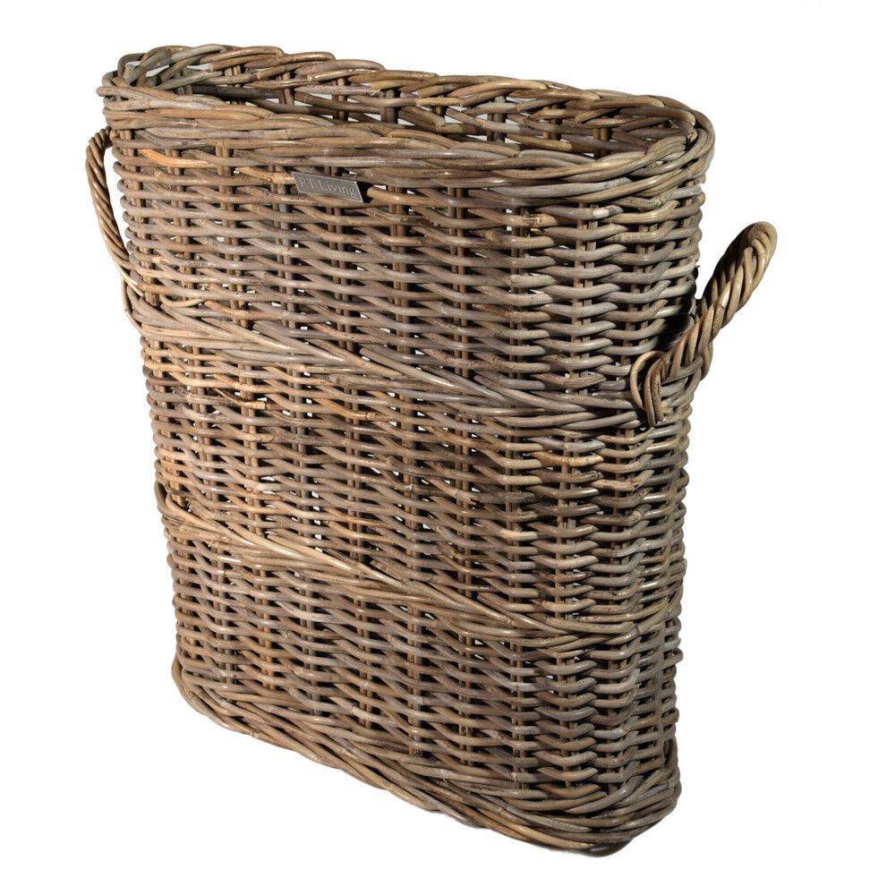 Rattan Rollo Slim Line Basket Storage Umbrellas Loo Roll Bathroom Grey Rattan