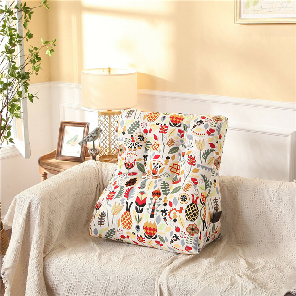 Reading Pillow Bed Backrest Support Reading Pillow Filled Triangular Wedge Cushion For Daybed Sofa Ebay