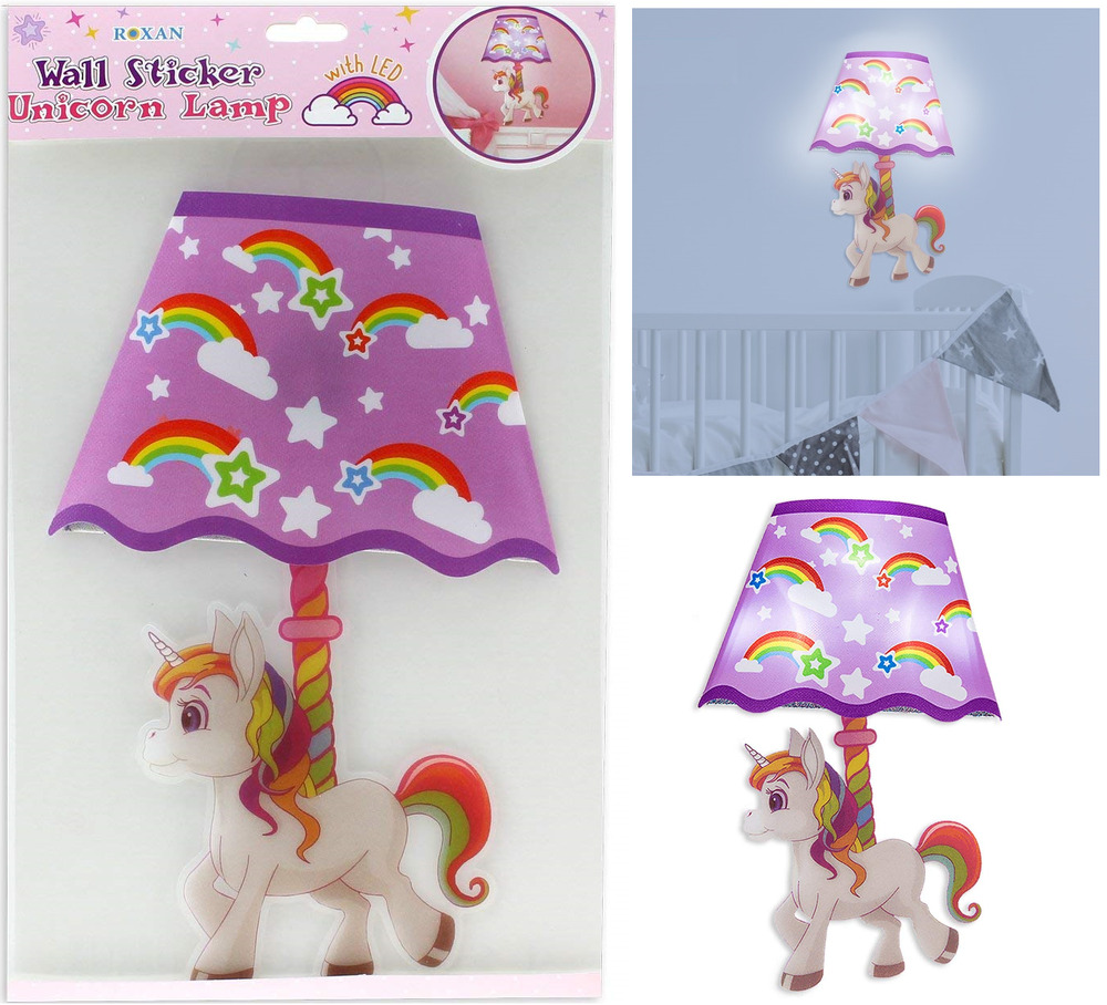 Decoration Chambre Licorne Girls Led Unicorn Lamp Wall Sticker Bedroom Glowing Night Light Decor Gift 24cm Ebay