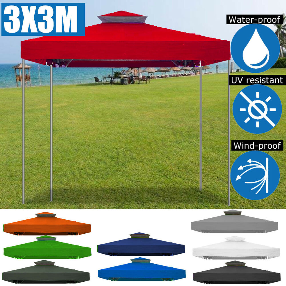 White Umbrella Marquees Gazebo Outdoor Pop Up Tent Folding Marquee Party Camping Canopy
