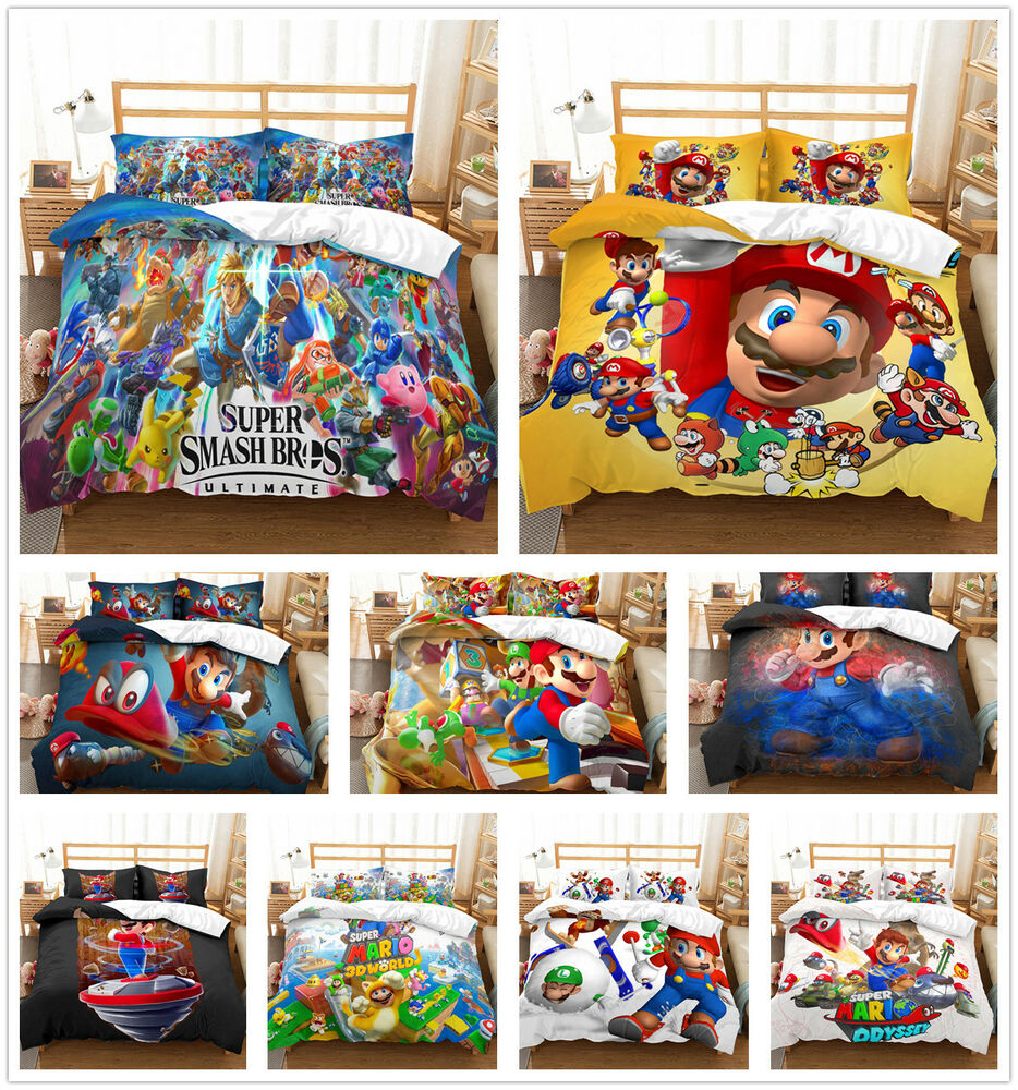 Duvet Covers And Comforters Customized 3d Super Mario Brothers Bedding Set Duvet Cover