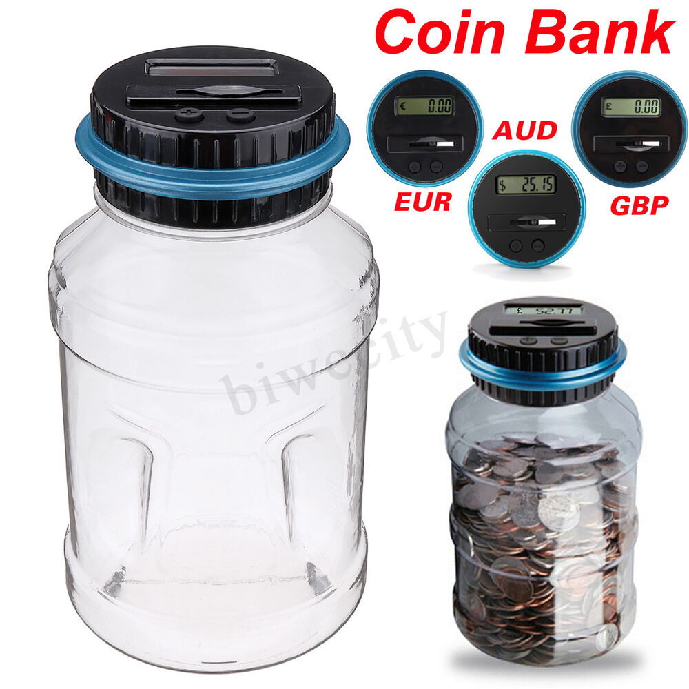 Aus Euro Aud Eur Pound Digital Coin Counter Lcd Display Coins Money Saving