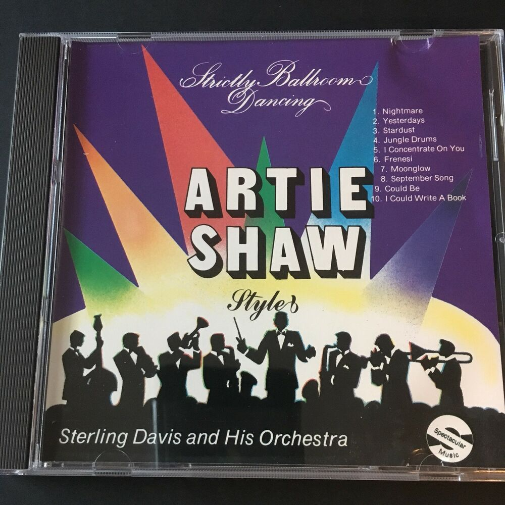 Artie Shaw Yesterdays Strictly Ballroom Dancing Artie Shaw Style Cd Sterling Davis Orchestra 1993 30981200229 Ebay