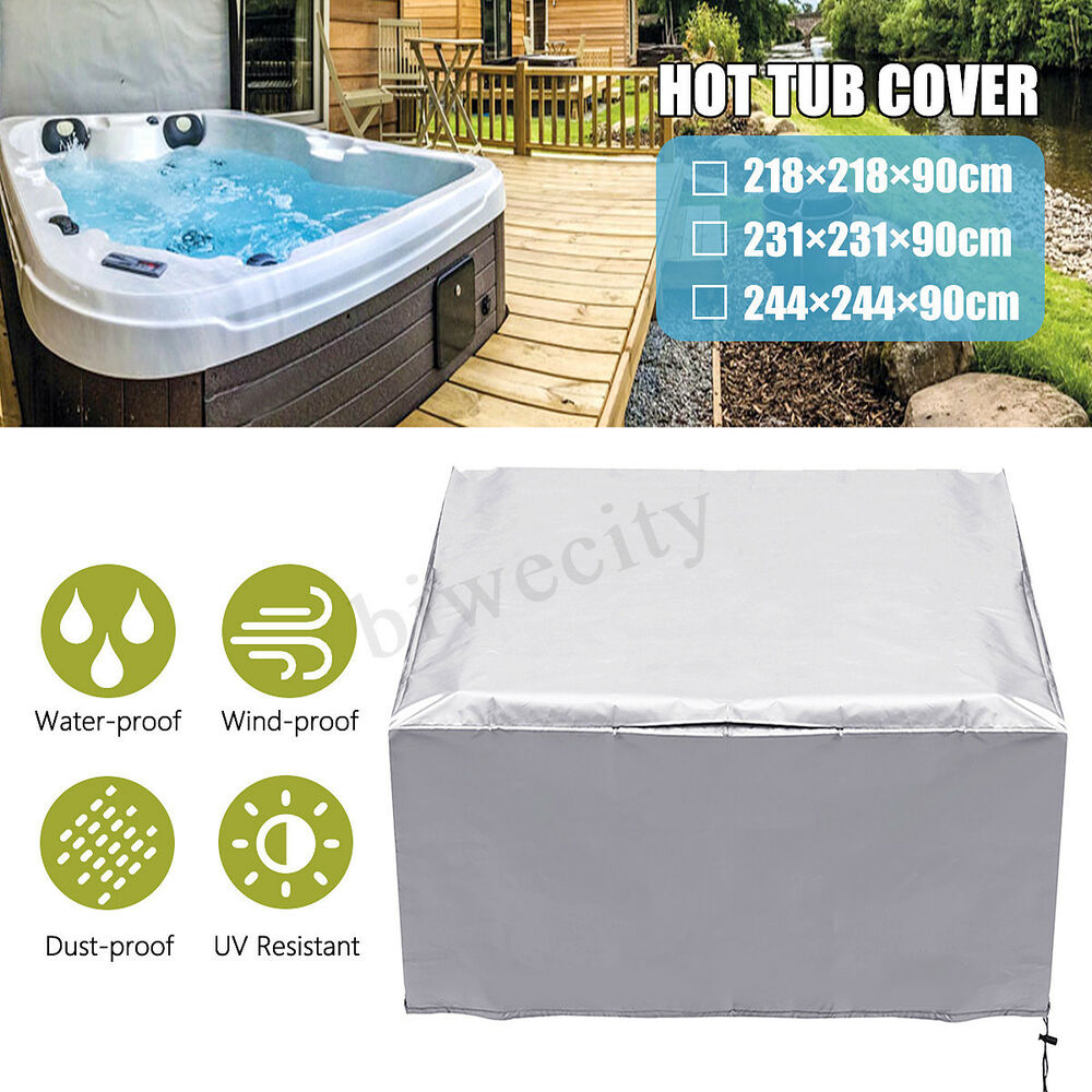 Jacuzzi Pool Covers Waterproof Hot Tub Dust Cover Durable Cap Spa Cover Sun Shield 218 231 244 90cm Ebay