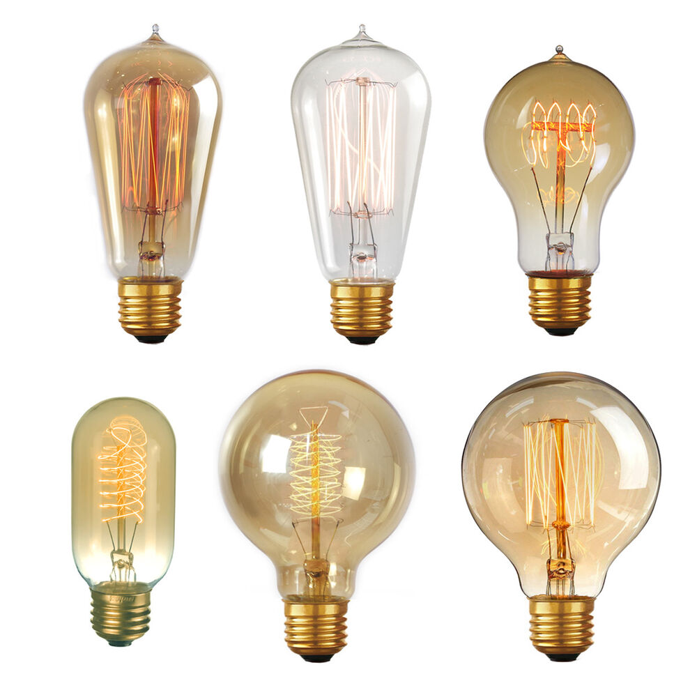 60w Light Bulb Edison Vintage Light Bulbs 40w 60w Old Fashioned Retro Style Filament Lamp Bulb Ebay
