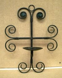 Candle Holder Wrought Iron Wall Mount 19in x 13in x 7in | eBay