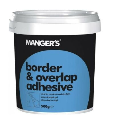 TUB OF 500G MANGERS BORDER AND OVERLAP ADHESIVE VINYL WALLPAPER PASTE STICK GLUE | eBay