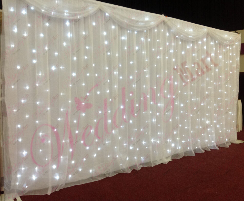 White Starlight Curtain Led Backdrop Led Star Cloth With