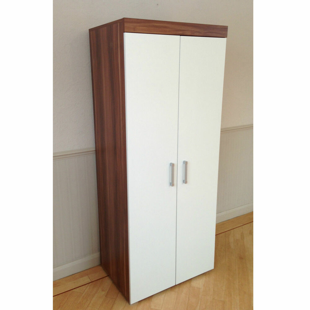 The Wardrobe Perth 2 Door Double Wardrobe In White Walnut Bedroom Furniture New Set Available 757901542640 Ebay