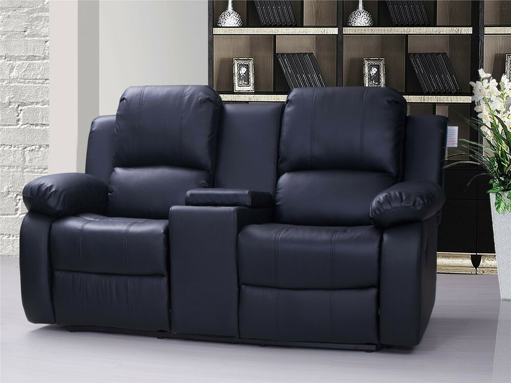 Corsetta 2 Seater Recliner Sofa Valencia 2 Seater Leather Recliner Sofa With Drinks