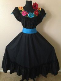 Mexican Dress Fiesta,5 De Mayo,Wedding Black 2 Piece w ...