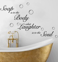 Soap Soak Bubbles Bathroom Quote Toilet Wall Sticker Decal ...