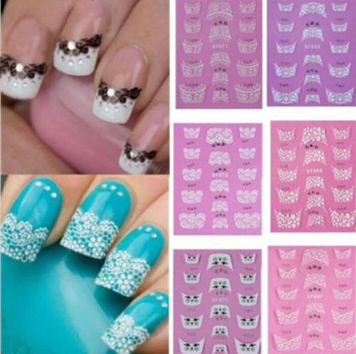 3d Lace Design Transfer Nail Art Stickers Manicure Nail