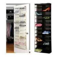 26-Pocket Shoe Rack Storage Organizer Holder Hook Folding ...