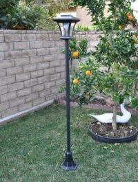 """New 67"""" Solar Powered Lamp Post Light with Bright LED Bulb ..."""