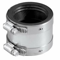 "Fernco Rubber 4"" Shielded Transition PVC Pipe Coupling"