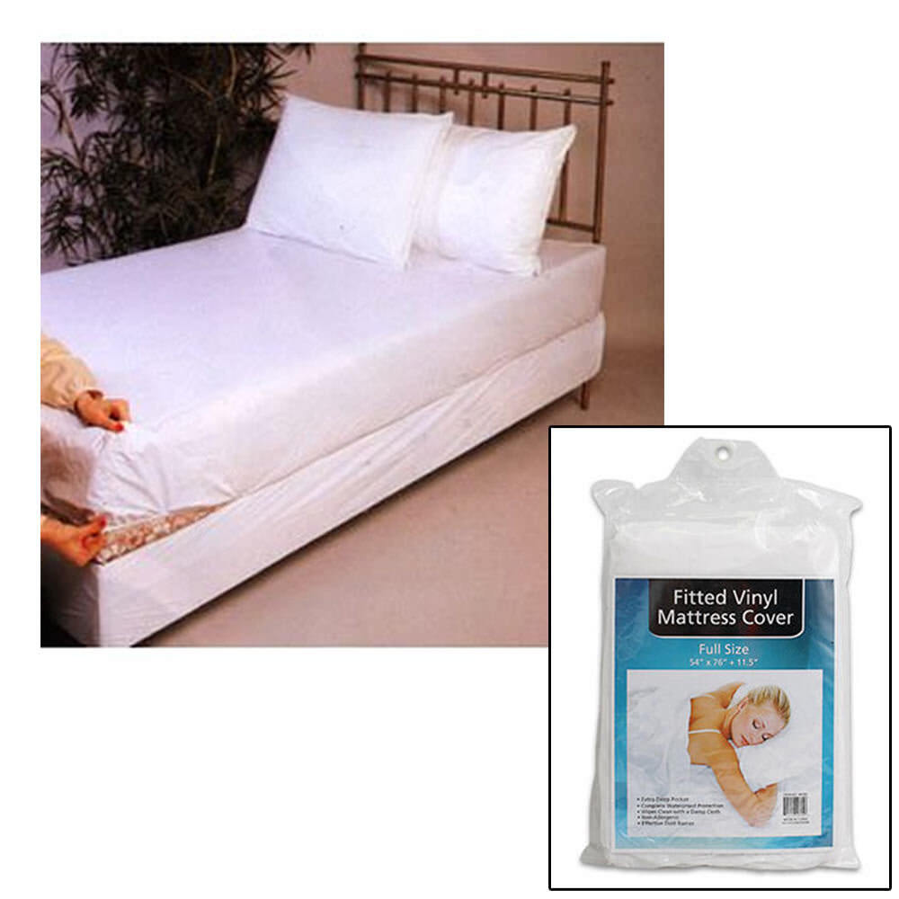 Bed Bugs Mattress Cover Full Size Bed Mattress Cover Plastic White Waterproof Bug Protector Mites Dust Ebay
