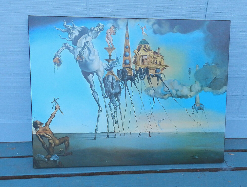 Temptation Of Saint Anthony Salvatore Dali Plaqed Poster - Salvatore Dali