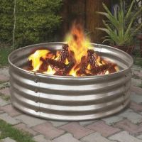 "NEW 36"" Portable Galvanized Steel Fire Ring! Pit Metal ..."