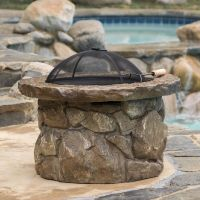 Outdoor Natural Stone Finish Fire Pit | eBay