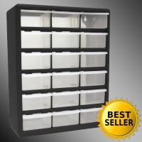 18 Drawer Clear Plastic Storage Bins Bedroom Parts ...