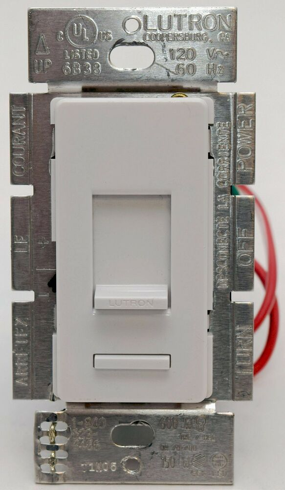 Dimmer 1000 Watt Lutron Lumea Lgcl-153p 3-way Single Pole Cl Wall Dimmer