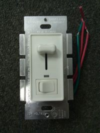 5 pc White Low Voltage Slide Dimmer 700W Single Pole 3-Way ...