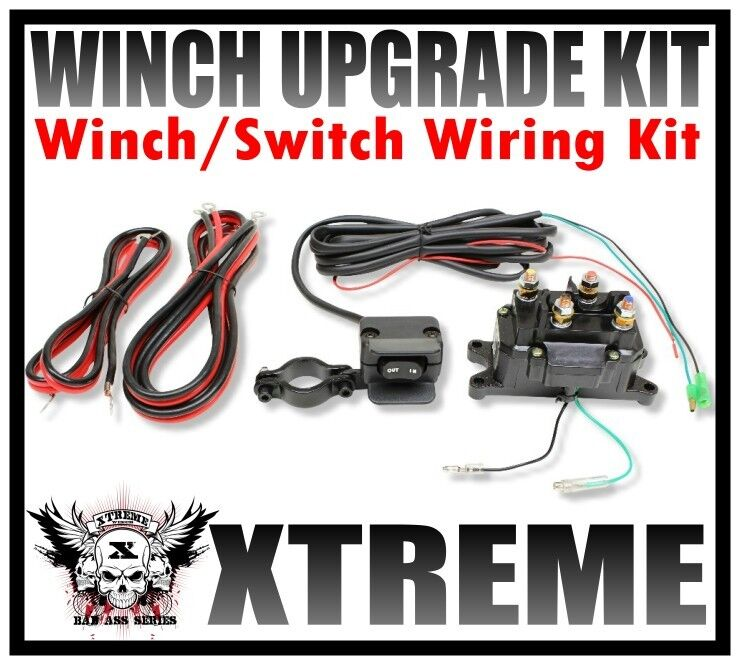 WINCH UPGRADE KIT 12V ATV WINCH CONTACTOR AND WINCH SWITCH MINI