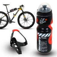 650ml Outdoor Water Bottle+Holder Cage Rack MTB Cycling