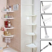 New Bathroom Bathtub Shower Caddy Holder Corner Rack Shelf
