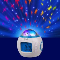 Music Starry Sky Night Light Projection LED Thermometer ...
