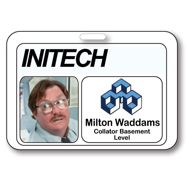 MILTON WADDAMS NAME BADGE HALLOWEEN COSTUME PROP OFFICE SPACE TV