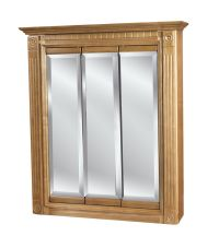 30 x30 3 door mirrored oak medicine cabinet | eBay