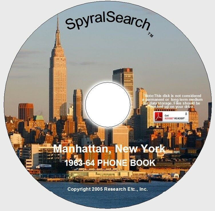 Tivoli New York Phone Book New York - Manhattan 1963 Phone Book On Cd | Ebay