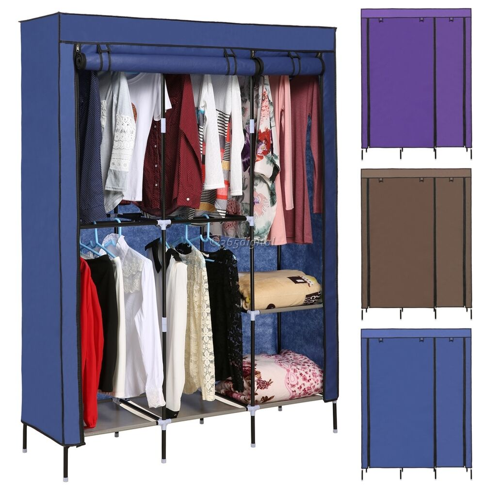 Bedroom Clothes Storage Portable Canvas Wardrobe Bedroom Home Furniture Clothes