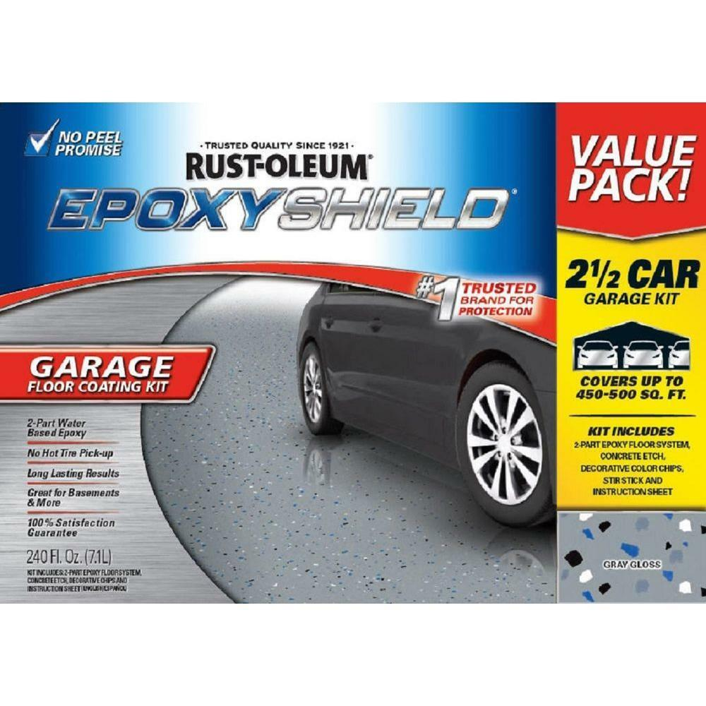 Garage Floor Paint Hot Tire 2 Part High Gloss Epoxy Car Garage Floor Paint Coating Kit Gal Gray Color New Ebay