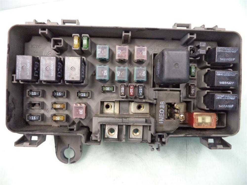 01 02 03 04 Honda Odyssey Under Hood Engine Fuse Relay Box unit