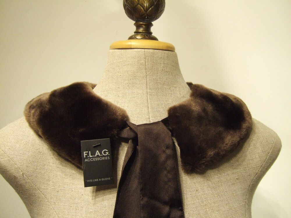 Faux Fur Bow Tie Collar Scarf Neck Warmer Ebay