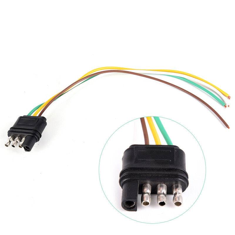 Trailer Light Wiring Harness Extension 4 Pins Plug Wire Connector