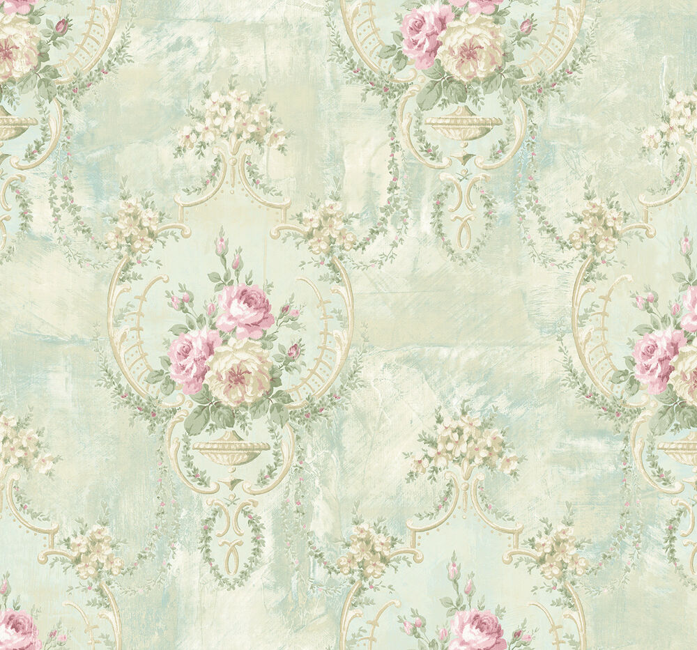 Iridescent Wallpaper Marble Peony Rose Sweet Blue Cream Pink Green Iridescent Double Roll Wallpaper 631748386264 Ebay
