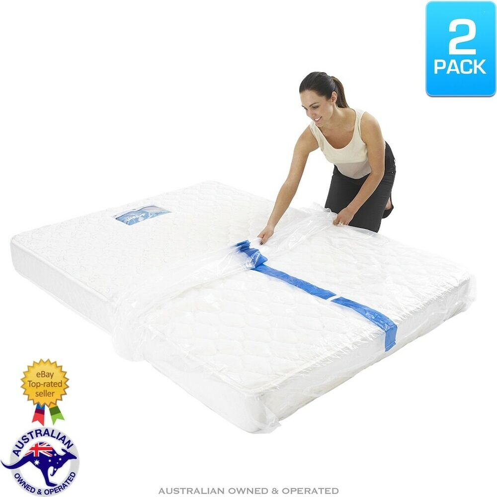 Beds With Storage Perth 2 X Plastic Mattress Protector Storage Bags King Queen Single Bed