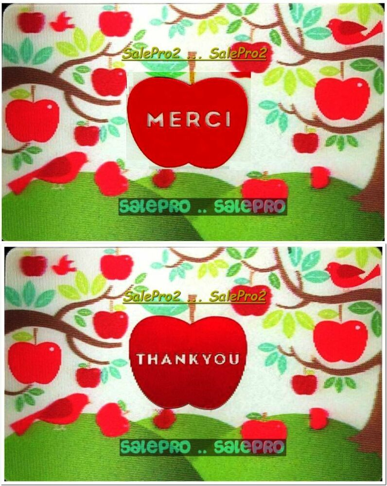 Coles Giftcard Balance 2x Chapters Indigo Coles Merci Thank You 3d Lenticular Collectible Gift Card Lot Ebay
