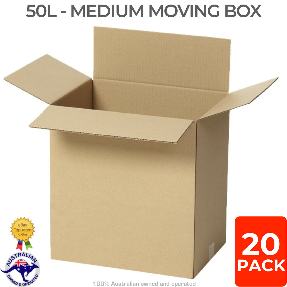 Free Cardboard Boxes Melbourne 25x 50l Medium Moving Boxes 40x30x43cm Removalist Cardboard