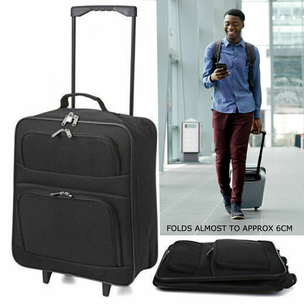 Lightweight Cabin Luggage Lightweight Cabin Hand Luggage Suitcase Wheeled Trolley Travel Case Bag Set 1 2 Ebay