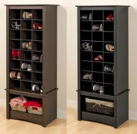 Tall Shoe Cubbie Storage Cabinet for Entryway Mudroom ...