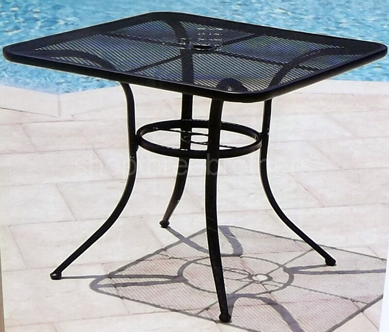 New 28quot Black Bistro Table Wrought Iron In Outdoor Cafe