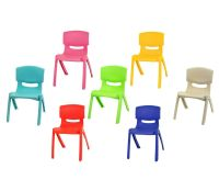 Stackable Kids Children Plastic Chair Home Picnic Party Up ...